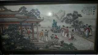Lukisan Cina Bingkai 140 x 70 cm