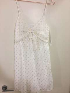 Ditsy white dress for sale!