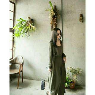 【Mercci22 漢娜自創品牌】特價↘-慵懶舒適三件式背心套裝(綠S)
