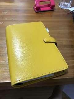 Personal yellow finsbury Filofax