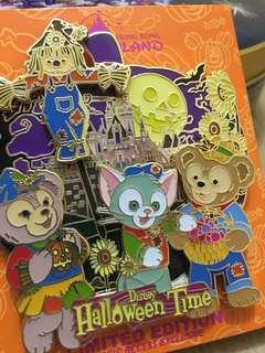 迪士尼限量版徽章 奇妙處處通會員 duffy 小東尼好友 萬聖節版