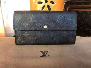 Authentic Vintage Louis Vuitton Portefeuille Sarah Long Wallet