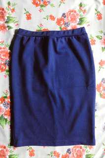 For Me Navy Blue Pencil Skirt