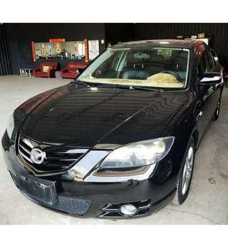 2006年Mazda3 黑色 經典車型(FB:桃園阿福_優質中古車)