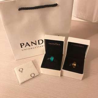 Pandora 潘朵拉寶石吊飾 兩顆合售