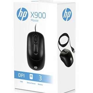 HP X900 USB Mouse (Black) Min order 2 pcs
