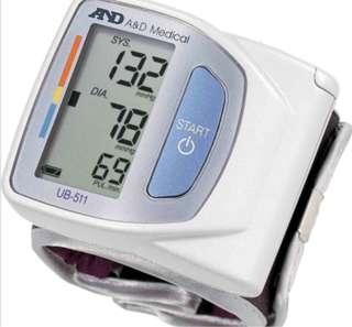 愛安得手腕式電子血壓計UB511