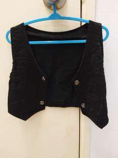 Black vest for girl