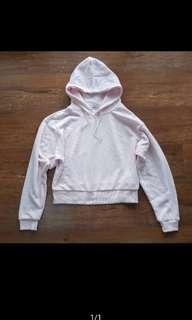 Hoodie crop baby pink