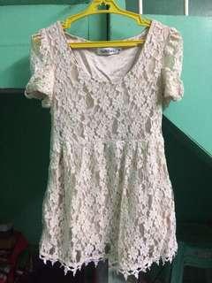 Beige lace blouse