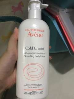 Avene cold cream (body lotion)