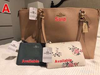Branded Coach Bag, Purse, Wristlet
