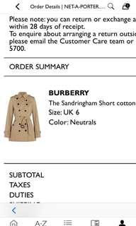 Burberry the Sandringham short cotton-gabardine trench coat