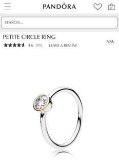 Pandora Petite Circle Ring Size 48