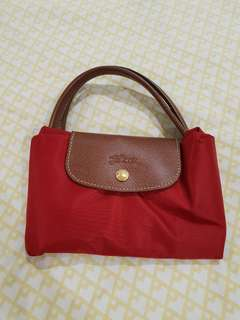 AUTH: NEW Longchamp Le Pliage Medium in Red