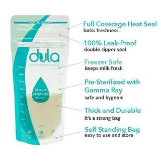 Dula breastmilk storage bags