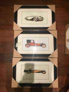 Antique cars ( Art prints with frame)