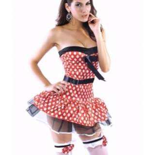 Minnie Mouse Party Dress Disney Women Costume AU Size 8