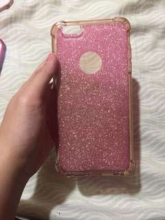 #winllaollao clear case with glitter print Iphone 6plus