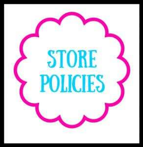 Store policy please read before purchasing