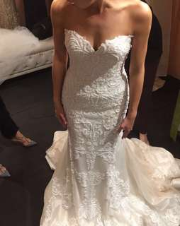 Stunning 2018 couture wedding gown - worn once!