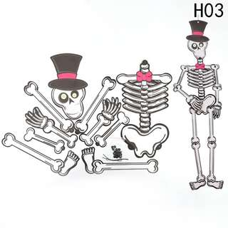 PRE-ORDER: Halloween DIY Paper Top Hat Skeleton Decoration