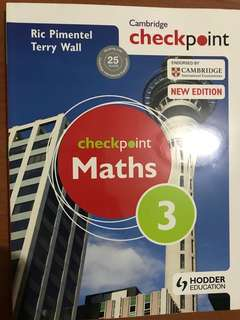 Cambridge Checkpoint Math 3