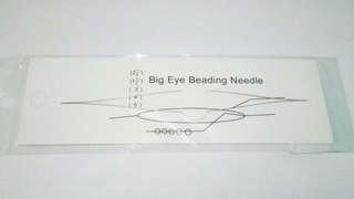 Big Eye Beading Needle - Jarum Jahit - Jarum Ajaib -15.5cm Tebal 0.1mm