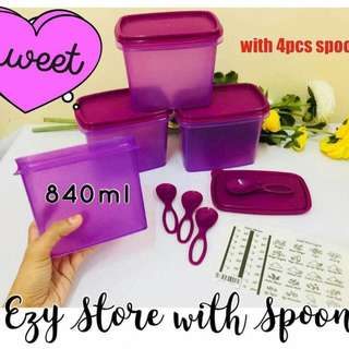 Tupperware Ezy Store with Spoon