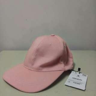 Topi bershka pink with tag