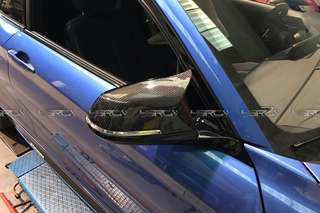 Bmw f30 . M3 m4 side mirror cover . Carbon