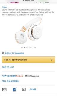 Wireless music headset BT-09