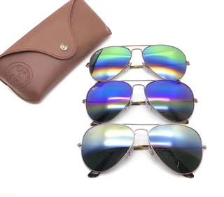 ray ban RayBan RB3025 彩虹鏡面 rb3025 58mm 62mm size made in Italy brand new full packages original