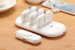 手機充電寶(多謝多位買家支持,四合一mini随身充   大的5000毫安,小的1000毫安,安卓,type-c  Iphone接口都有)