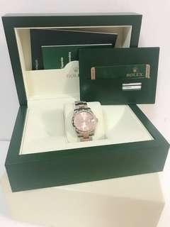 Rolex date just 31mm rose gold