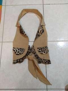 Leopard vest for girl