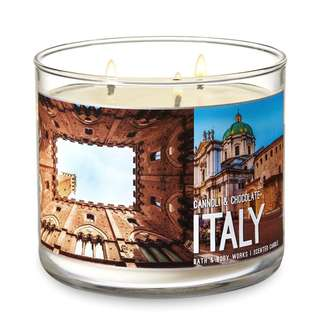 New BBW CANNOLI & CHOCOLATE 3-Wick Candle