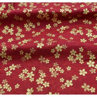 Japanese Ikebana style cherry blossom cotton fabric cloth DIY bag making patchwork quilt