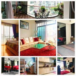 FOR RENT: Spacious 2BR & 2 baths fully-furnished condo