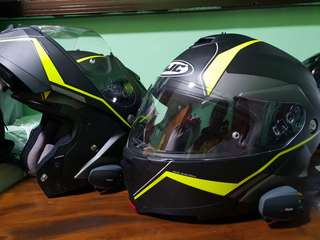 *ALMOST BRAND NEW* HJC IS-MAX II Full Face Flip-up Helmet with UClear Bluetooth Comms Installed