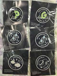 WTS READY STOCK PENTAGON BADGES TENTASTIC CONCERT