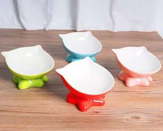 💙 PRE ORDER💙New Collection Highly Recommended  Cat Design Pet Food Ceramic Bowl to  Protect the cervical vertebrae spine Cat🐱 & Dog Pet bowl