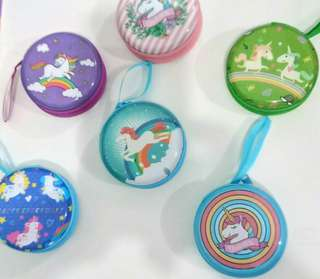 Unicorn🦄coin purse and earphone holder🌈🦄🌈w/hard surface back and front
