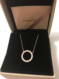 Pandora 玫瑰金頸鏈