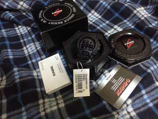 Casio Gshock dw6900bbn-1 aka dark knight tali nylon matte black
