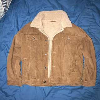 Vintage Bomber Suede tan crop jacket