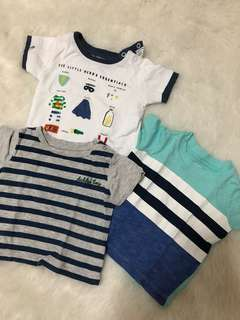 Branded T shirt bundle fits 3-6 months