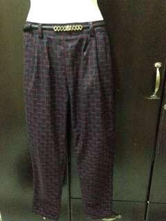 Plaid pants (garterized)
