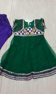 2 to 3 yr old girl indian costume. Used once. Still good condition for racial harmony day.