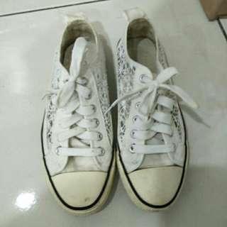 🚚 韓國✨超美蕾絲帆布鞋✨購入490 #女裝半價拉